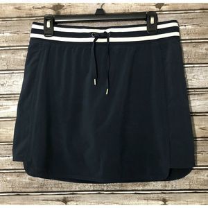 Athleta Skort Sz 8 Navy Drawstring Waist Pockets